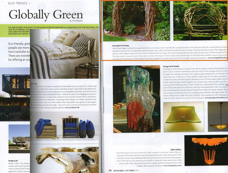 Entangled Furnishings is featured on Home & Lifestyle Magazine