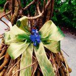 Butterfly bow detail ball gown bittersweet vine sculpture